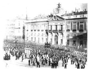 Entierro de Castelar en la Puerta del Sol